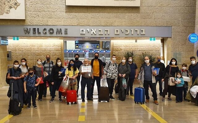 A group of 23 Brazilians immigrated to Israel on a flight that went through Ethiopia in May. The pipeline to Israel, however, has been nearly shut down by coronavirus restrictions. (Olim do Brasil NGO)