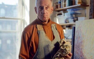 Holocaust survivor and artist Fred Terna, photographed in his Brooklyn studio. (Daniel Terna)