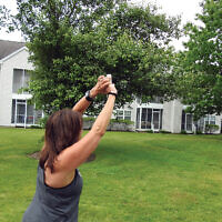 Yoga en plein air at Crane's Mill in Caldwell, N.J.  Courtesy of Crane's Mill