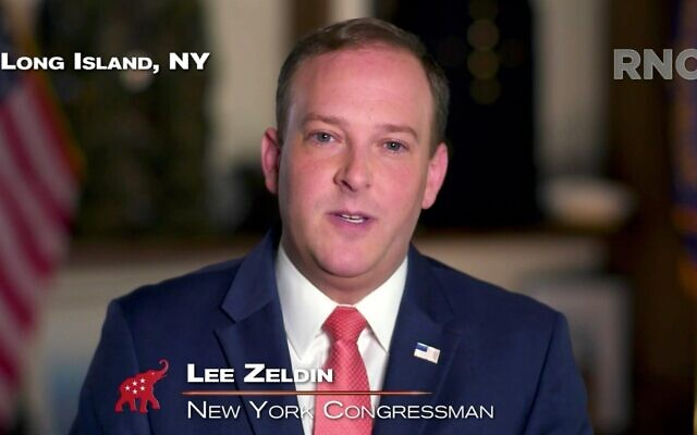 U.S. Rep. Lee Zeldin (R-NY) addresses the virtual 2020 Republican National Convention on Aug. 26, 2020. (Courtesy of the Committee on Arrangements for the 2020 Republican National Committee via Getty Images)
