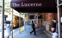 The Lucerne Hotel on W. 79th St. in  Manhattan has been converted into a homeless shelter during the Covid-19 crisis. (Upper West Siders for Safer Streets)