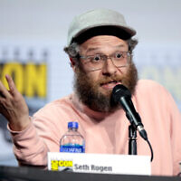Seth Rogen speaking at the 2019 San Diego Comic Con International. (Gage Skidmore/Flickr Commons)