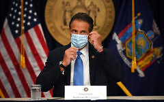 Gov. Andrew M. Cuomo holds a coronavirus briefing in New York City, Monday afternoon, August 3, 2020. (Kevin P. Coughlin / Office of Governor Andrew M. Cuomo)