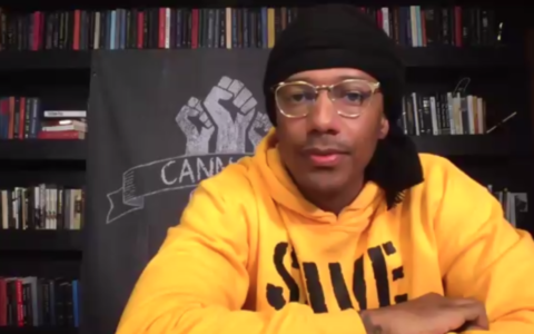 Nick Cannon speaks during a Zoom conversation organized by the American Jewish Committee on August 10, 2020. (Screen capture/Zoom)
