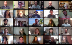 Students of YIVO's summer 2020 Yiddish language program took part in a virtual graduation ceremony on Friday, Aug. 7, 2020. Brad Rothenberg is in the second row, second from right. (Courtesy YIVO)