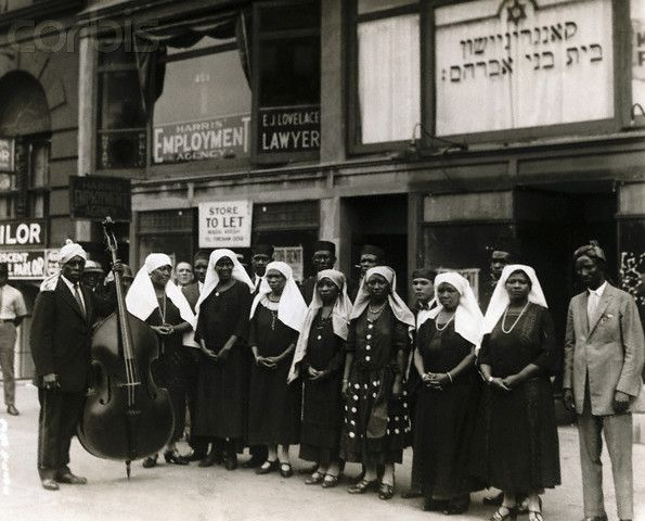 The Choir of Congregation Beth B'nai Abraham in Harlem in 1929