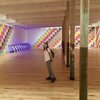 Socially distanced gallery-hopping at MASS MoCA in North Adams, Mass., August 17, 2020. (Jewish Week)