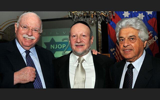 Left to right: Michael Steinhardt, Rabbi Ephraim Buchenwald and Sam Domb