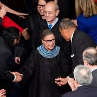 Supreme Court Justice Ruth Bader Ginsburg arrives for President Barack Obama's State of the Union address in the Capitol, Jan. 20, 2015. (Bill Clark/CQ Roll Call/Getty Images)