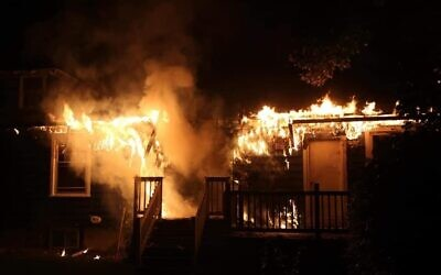 The Aug. 25, 2020 fire at the Chabad Center at the University of Delaware has been ruled an arson. (Dave Wilson/ Aetna Hose, Hook & Ladder Company)