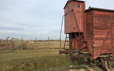 A train car at Auschwitz. (Jewish Week)