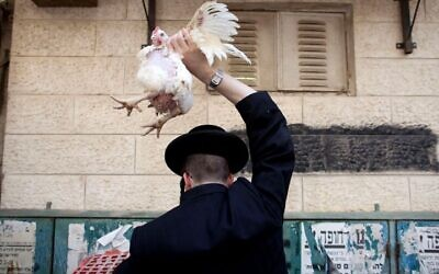 The ancient Jewish ritual of kapparot is practiced before the Yom Kippur holiday. Getty Images