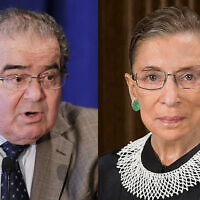Justices Antonin Scalia and Ruth Bader Ginsburg were friends from the time when the two were judges on the U.S. Court of Appeals in Washington.