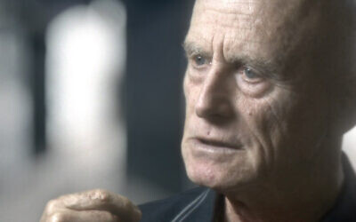 """Ami Ayalon in a scene from """"The Gatekeepers,"""" the 2012 documentary featuring interviews with six former heads of Israel's Shin Bet security agency. (thegatekeepersfilm.com)"""