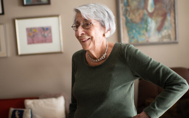 Artist Marilee Shapiro Asher, seen at her home in Washington, D.C., in 2015, survived both the Spanish flu in 1918 and Covid-19. She died this week at age 107.  (Sarah L. Voisin/The Washington Post via Getty Images)