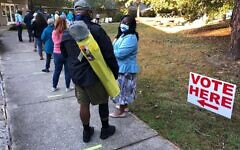 Early voting for the Nov. 3 General Election is held Thursday, Oct. 15, 2020 In Durham, N.C. (Jeffrey L. Cohen/Flickr Commons)