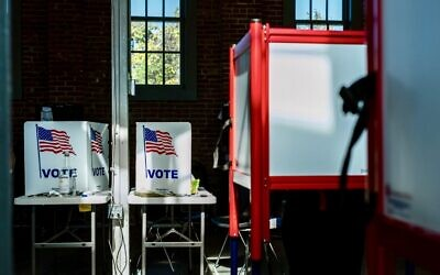 Early voting is underway at the Kentucky Center for African American Heritage in Louisville, Oct. 13, 2020. (Jon Cherry/Getty Images)
