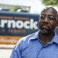 Rev. Raphael Warnock seen after a campaign rally in LaGrange, Ga., Oct. 29, 2020. (Tom Williams/CQ-Roll Call, Inc via Getty Images)