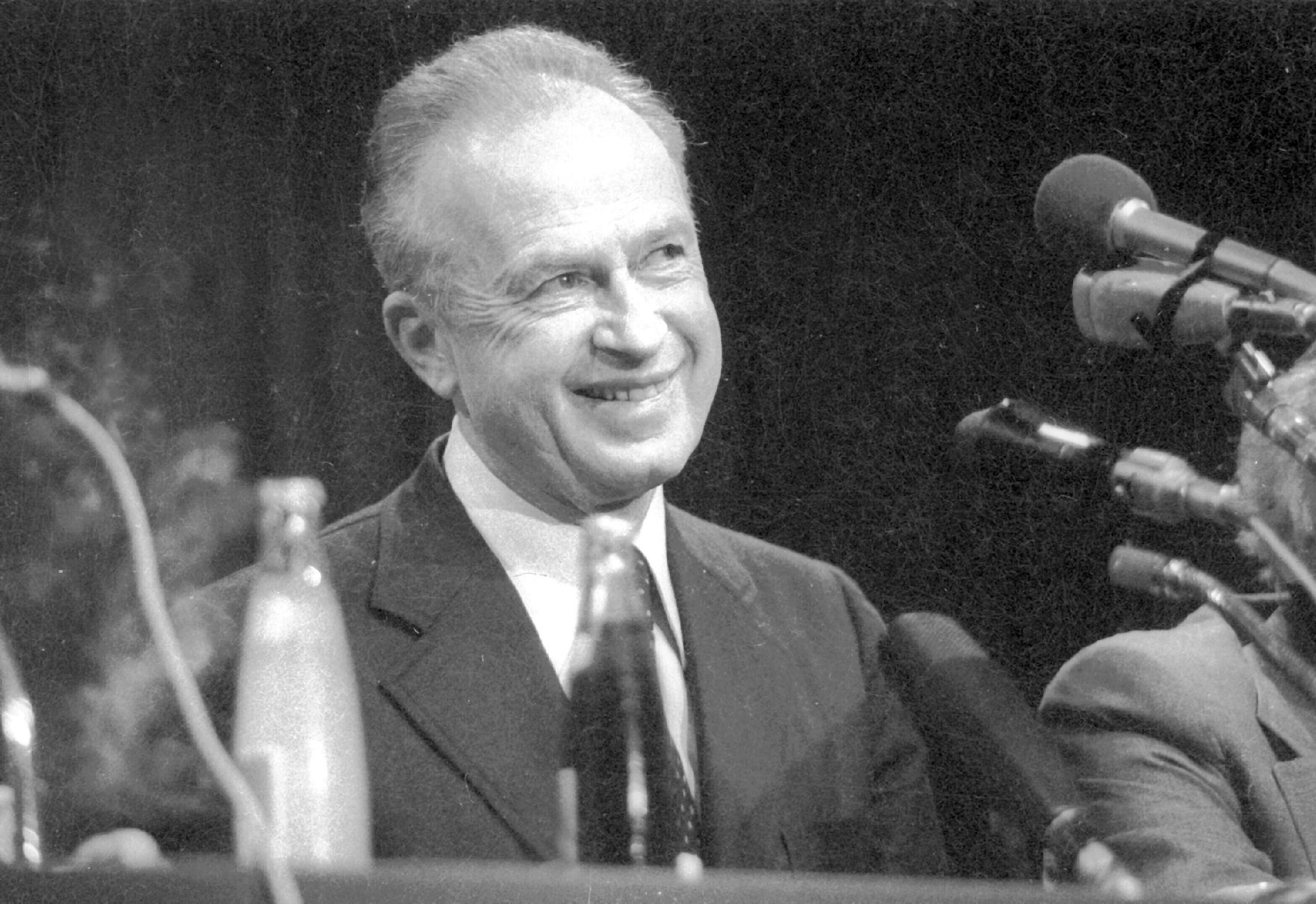 Yitzhak Rabin in 1978. (Yosi Rot/National Library of Israel)