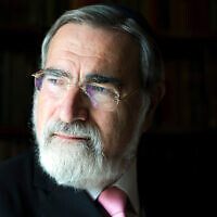 Rabbi Lord Jonathan Sacks (Courtesy of Sacks/via JTA)