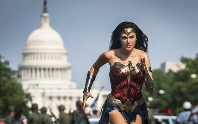 """Gal Gadot stars in """"Wonder Woman 1984,"""" which topped the weekend box office. (Clay Enos/Warner Bros.)"""