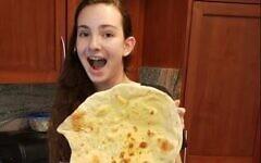 Ilena Moses, a freshman at Westridge School in Pasadena, California, discovered saj on a trip to Israel. (Courtesy)