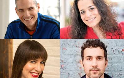 Clockwise from top left: Joel Chasnoff, Jess Kirson, Mark Normand, Ophira Eisenberg