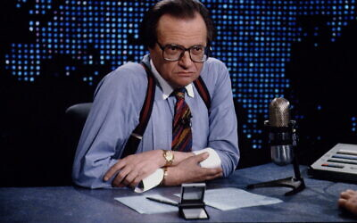 Larry King interviews Ross Perot in 1993 on his long-running CNN show.. (Jeffrey Markowitz/Sygma via Getty Images)