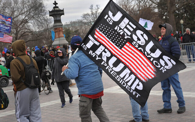"Lloyd Wolf, a freelance photographer based in the Washington, D.C., area, took some of the most compelling photographs of the Jan. 6 ""Save Our Country"" rally at the Capitol, including this one. (Lloyd Wolf, via JTA)"