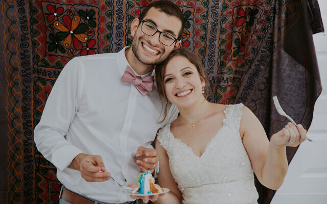 Robbie Shorr and Lydia Sonenklar were wed Aug. 2, 2020, in Lydia's hometown of Richmond, Va. (Jessica Latos)