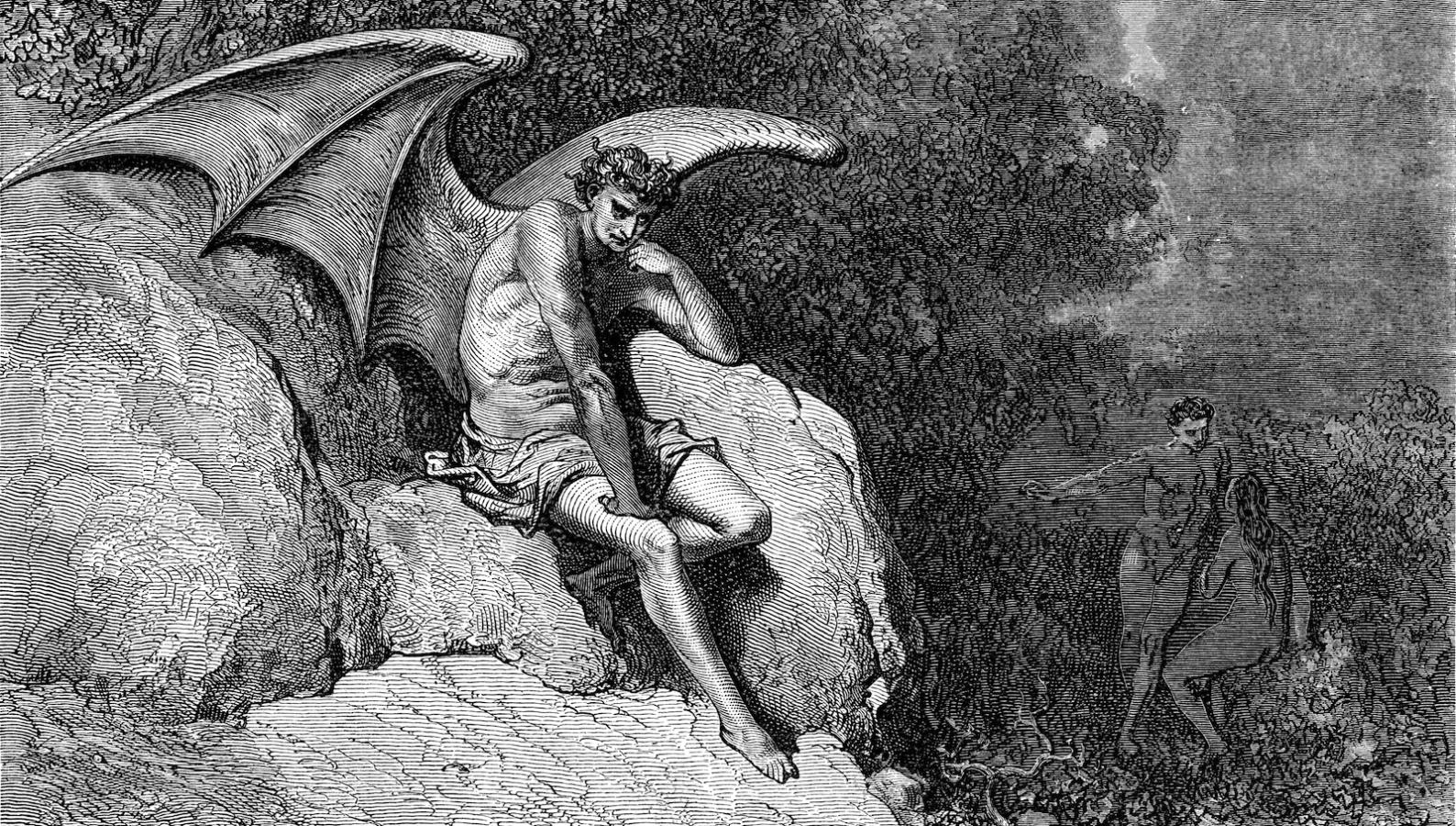 Engraving by Gustave Dore. From Milton's Paradise Lost by Robert Vaughan, D.D. Chicago and New York 1885
