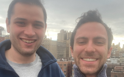 """Eli Nussbaum and Jonah Rosen launched """"On Mondays We Eat Local,"""" an initiative to support local kosher restaurants struggling with stringent in-door dining restrictions.   (Courtesy)"""