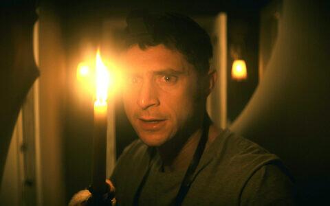 "Yakov Ronen stars in ""The Vigil,"" a new horror movie set in Brooklyn's Hasidic community. (Courtesy of IFC Midnight)"