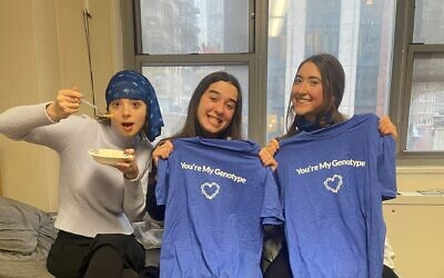 Students from Yeshiva University's Stern College signed up this week for genetic testing under a program meant to curtail genetic disease transmission in the Jewish community. (Courtesy)
