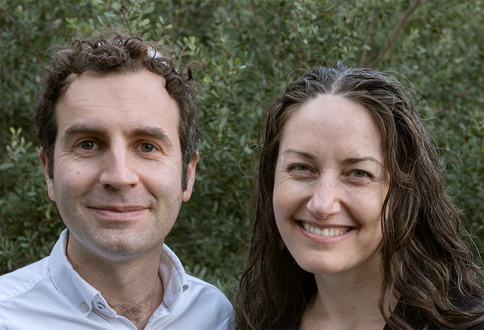 Jessica Beckerman and Ari Johnson