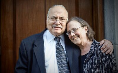Rabbi Stephen C. Lerner, founder of the Center for Conversion to Judaism, and his wife Anne Lapidus Lerner, an emerita professor and vice chancellor at the Jewish Theological Seminary, would often invite students to their home in Teaneck, N.J. (Scott Newirth via My Jewish Learning)