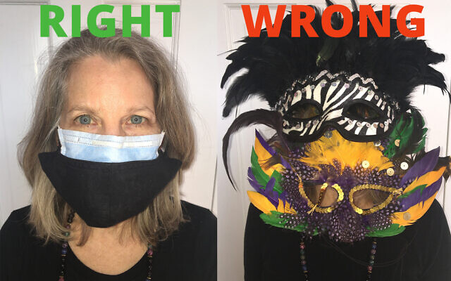 DOUBLE UP: The Centers for Disease Control has issued COVID-19 protocols for safely celebrating Purim, including wearing two masks. (Jewish Weak)