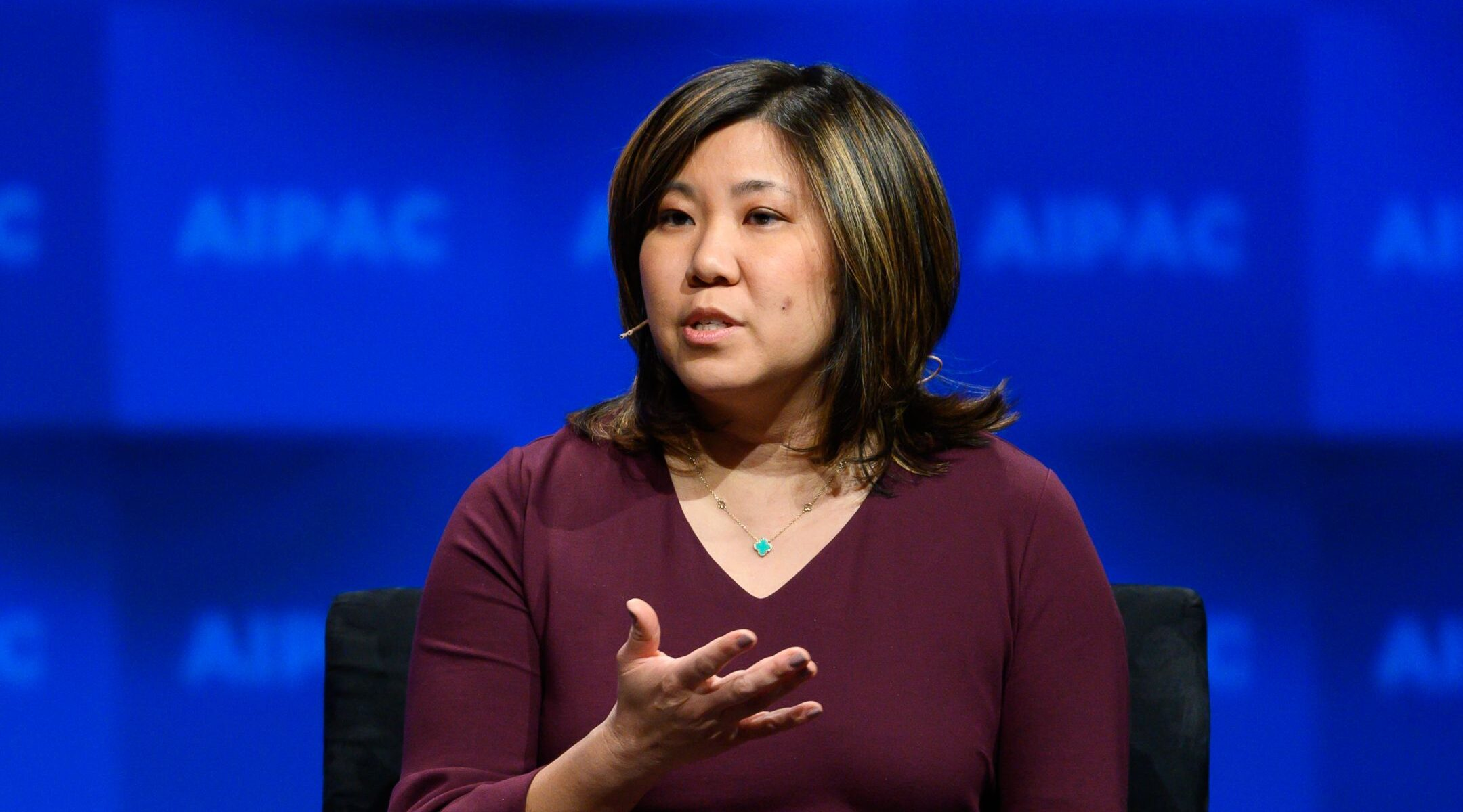 Rep. Grace Meng (D-Queens) speaks at the AIPAC policy conference in Washington, March 25, 2019. (Michael Brochstein/SOPA Images/LightRocket via Getty Images)