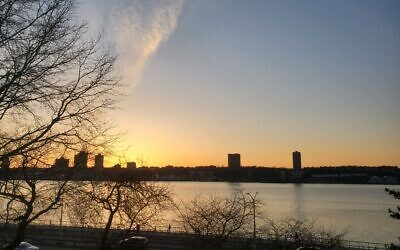 A sunset seen from the Upper West Side of Manhattan. (Esther Sperber)