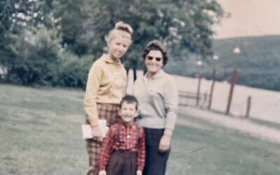 The author's mother, Dagmar Fodiman, her uncle Arthur Perl and her grandmother Serena Perl in Lake George, N.Y., 1964. (Courtesy the author)