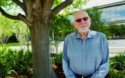 Rabbi Sheldon Zimmerman, seen in a video for Temple Emanu-El in Dallas, where he served as senior rabbi from 1985 to 1996 and as a scholar in residence in 2017. (Via Vimeo)