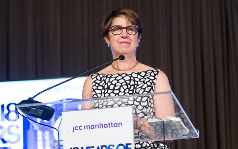 Rabbi Joy Levitt, CEO of the Marlene Meyerson JCC Manhattan, announced plans to retire in December, after first coming to the New York City nonprofit organization 25 years ago. (Will Ragozzino)