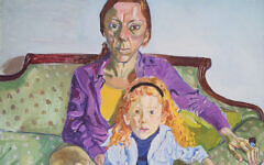 "A detail from ""Linda Nochlin and Daisy,"" 1973, by Alice Neel, Oil on canvas, Museum of Fine Arts, Boston, Seth K. Sweetser Fund. (© The Estate of Alice Neel)"