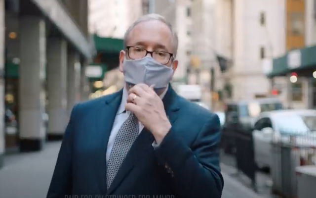 City Comptroller and mayoral candidate Scott Stringer is seen in a new campaign ad, which began airing Wednesday on broadcast, cable and digital. (YouTube)
