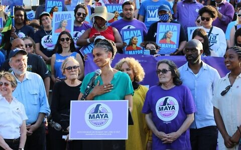 Civil rights attorney Maya Wiley has an outside chance of overcoming Brooklyn Borough president Eric Adams in the Democratic primary for New York City Mayor. June 22, 2021. (Courtesy Wiley for Mayor)