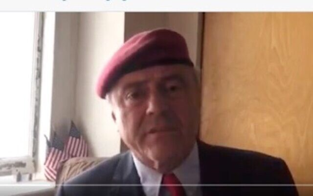 Curtis Sliwa, the Guardian Angels founder, responds in a video to accusation that remarks he made in 2018 were antisemitic, July 25, 2021.