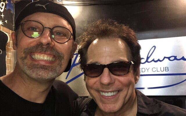 Geoff Kole, who produced this year's Funniest Jewish Comedian contest, and veteran comedian Steve Marshall at the Broadway Comedy Club, June 28, 2021. (Photo Courtesy of Geoff Kole)