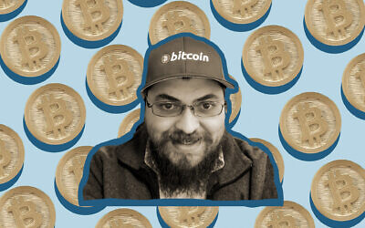Strangers ask Michael Caras for advice and spiritual guidance on both Judaism and cryptocurrency. (Courtesy of Caras)