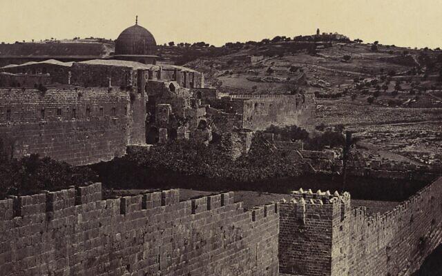 Jerusalem, seen in a photograph by Felice Beato, 1856-57. (Felice Beato/Gift of Joyce F. Menschel, 2013)