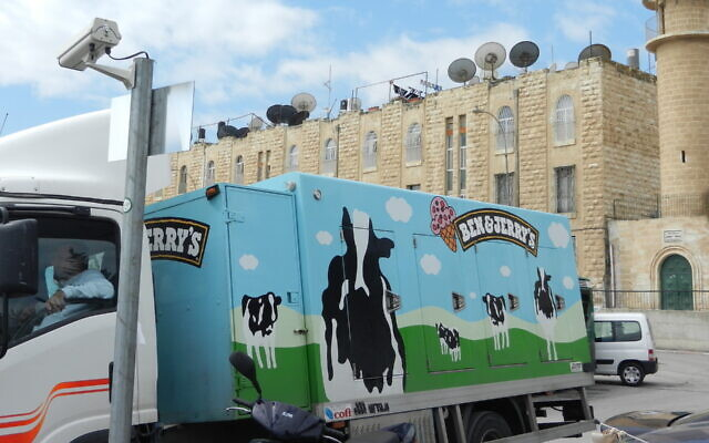 A Ben & Jerry's truck parked in Jerusalem. (Flickr Commons)